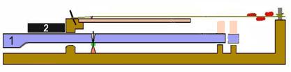 Geschichte des Klaviers Das Klavichord in einer Technischen Zeichnung